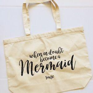 Handbags - New! Large 'Mermaid' Canvas Tote